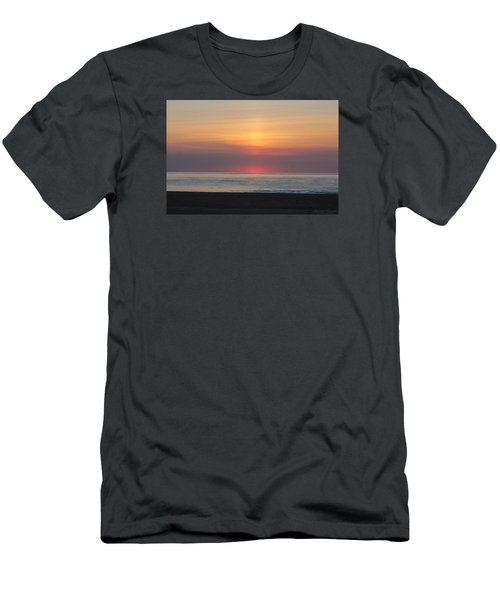 Men's T-Shirt (Slim Fit) featuring the photograph Pink Dawn by Robert Banach