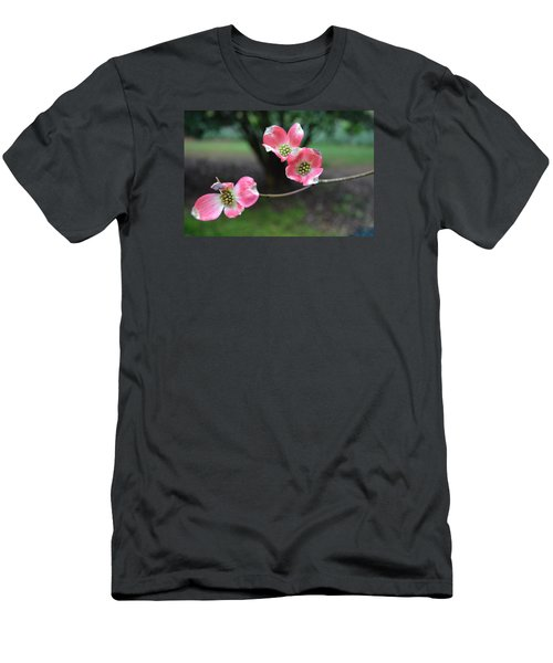 Men's T-Shirt (Slim Fit) featuring the photograph Pink Dogwood by Linda Geiger