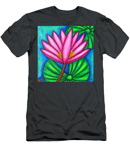 Men's T-Shirt (Athletic Fit) featuring the painting Pink Gem 3 by Lisa  Lorenz