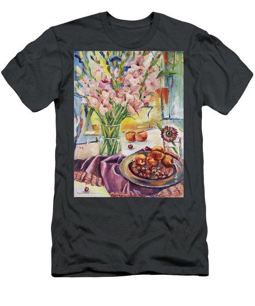 Pink Gladioas Men's T-Shirt (Athletic Fit)
