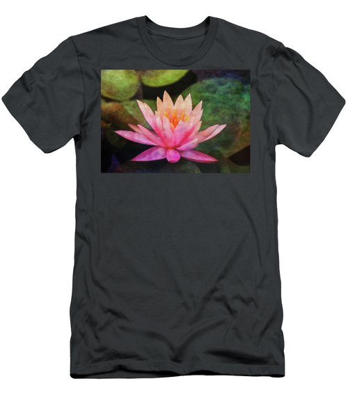 Pink Lotus 4134 Idp_2 Men's T-Shirt (Athletic Fit)