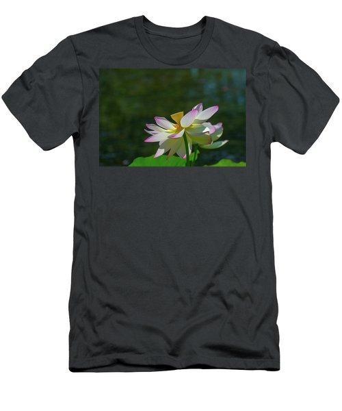 Pink Lotus Embracing The Sun Men's T-Shirt (Athletic Fit)