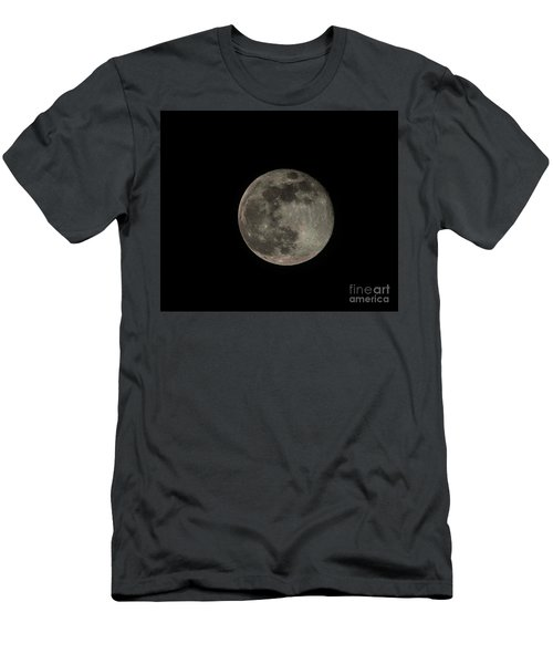 Men's T-Shirt (Slim Fit) featuring the photograph Pink Moon by David Bearden