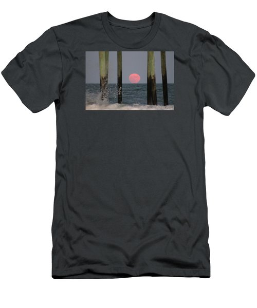 Pink Moon Rising Men's T-Shirt (Athletic Fit)