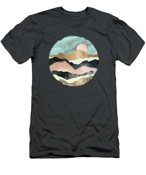 Pink Mountains Men's T-Shirt (Athletic Fit)