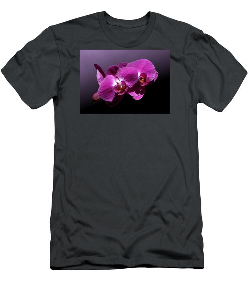 Pink Orchid Flowers Men's T-Shirt (Athletic Fit)