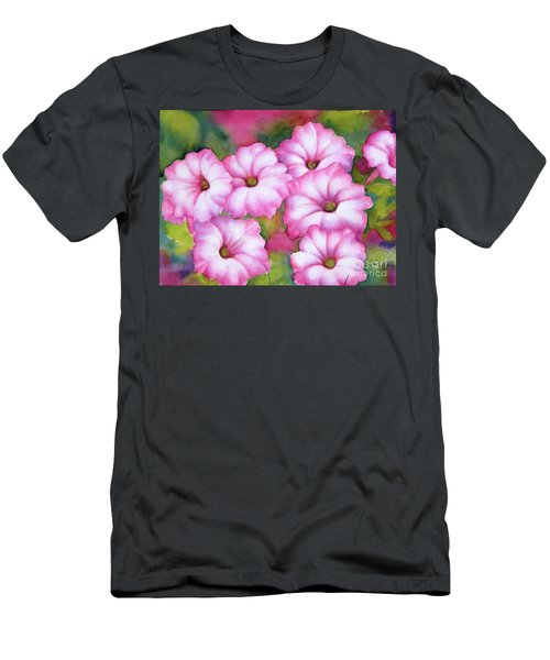 Pink Petunias Men's T-Shirt (Athletic Fit)