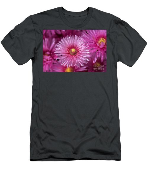 Pink Pigface Flowers Men's T-Shirt (Athletic Fit)