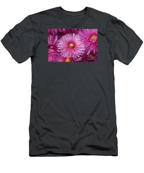 Pink Pigface Flowers Men's T-Shirt (Athletic Fit)