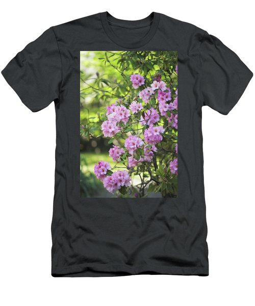 Pink Rhododendron Bloom Men's T-Shirt (Athletic Fit)