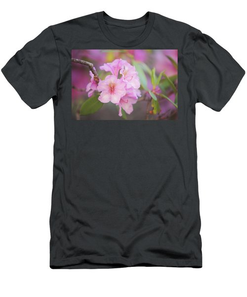 Pink Rhododendron Flowers Men's T-Shirt (Athletic Fit)