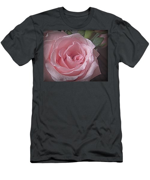 Pink Rose Bliss Men's T-Shirt (Athletic Fit)
