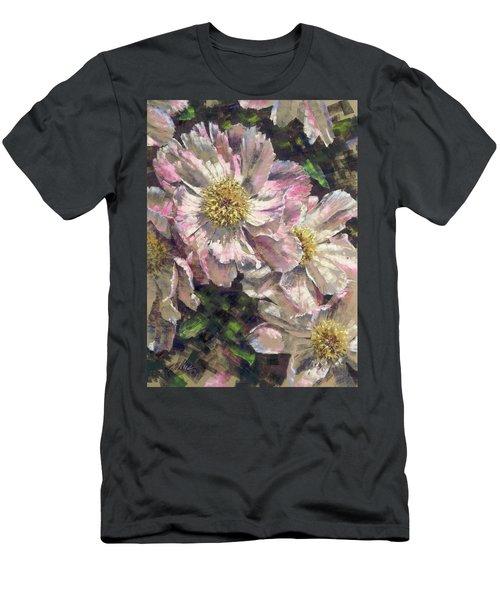 Pink Single Peonies Men's T-Shirt (Athletic Fit)