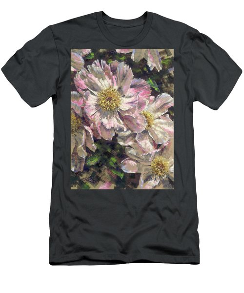 Pink Single Peonies Men's T-Shirt (Athletic Fit)