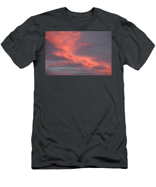 Men's T-Shirt (Athletic Fit) featuring the digital art Pink Clouds In The Sky by Margarethe Binkley