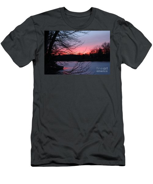 Pink Sky At Night Men's T-Shirt (Slim Fit) by Jason Nicholas
