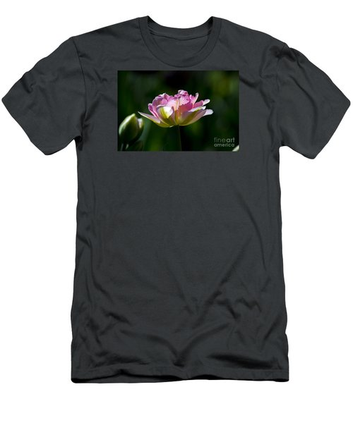 Men's T-Shirt (Athletic Fit) featuring the photograph Pink Tulip by Angela DeFrias