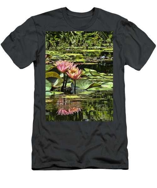Pink Water Lily Reflections Men's T-Shirt (Athletic Fit)