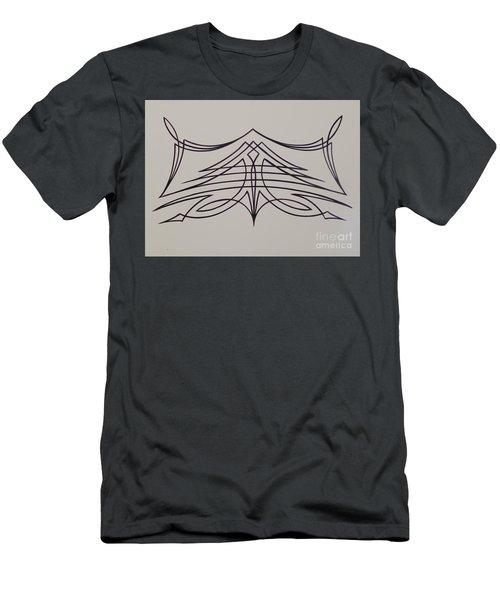 Pinstripe Black On White Men's T-Shirt (Slim Fit) by Alan Johnson
