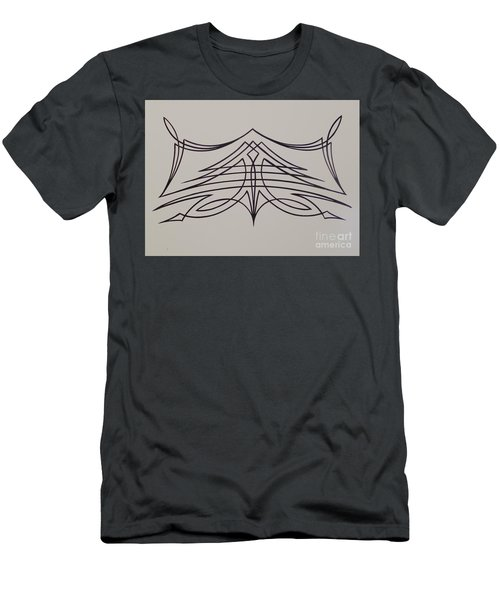 Pinstripe Black On White Men's T-Shirt (Athletic Fit)