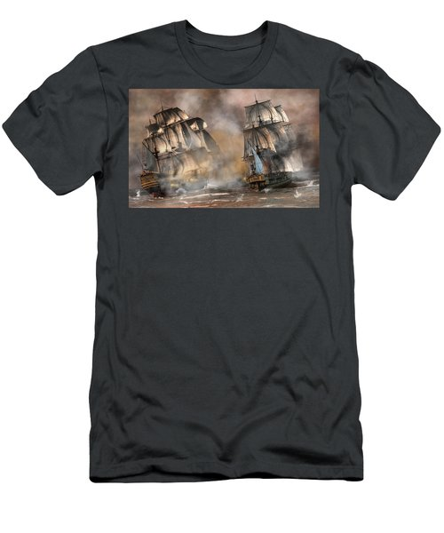 Pirate Battle Men's T-Shirt (Athletic Fit)