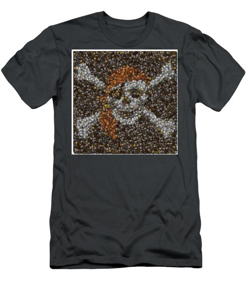 Men's T-Shirt (Slim Fit) featuring the digital art Pirate Coins Mosaic by Paul Van Scott