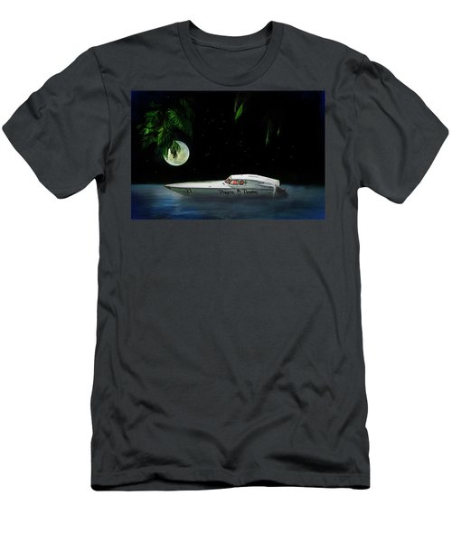 Men's T-Shirt (Slim Fit) featuring the painting Pirate Racing by Michael Cleere