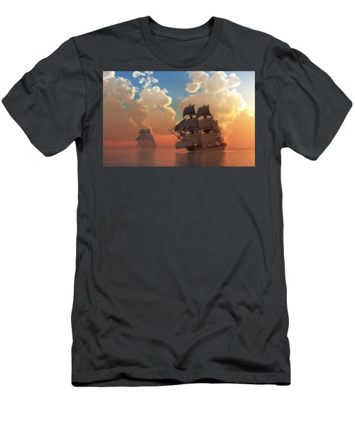 Pirate Sunset Men's T-Shirt (Athletic Fit)