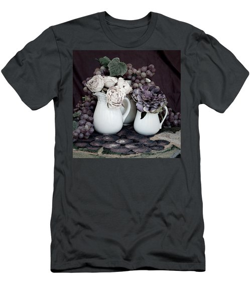 Men's T-Shirt (Slim Fit) featuring the photograph Pitchers And Tapestry by Sherry Hallemeier