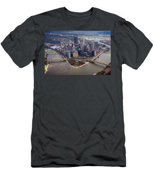 Pittsburgh 8 In Color  Men's T-Shirt (Athletic Fit)