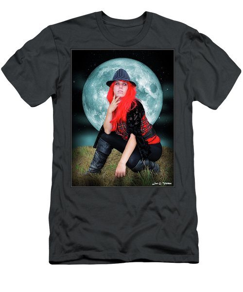 Pixie Under A Blue Moon Men's T-Shirt (Athletic Fit)
