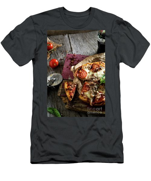 Pizza Night Men's T-Shirt (Athletic Fit)