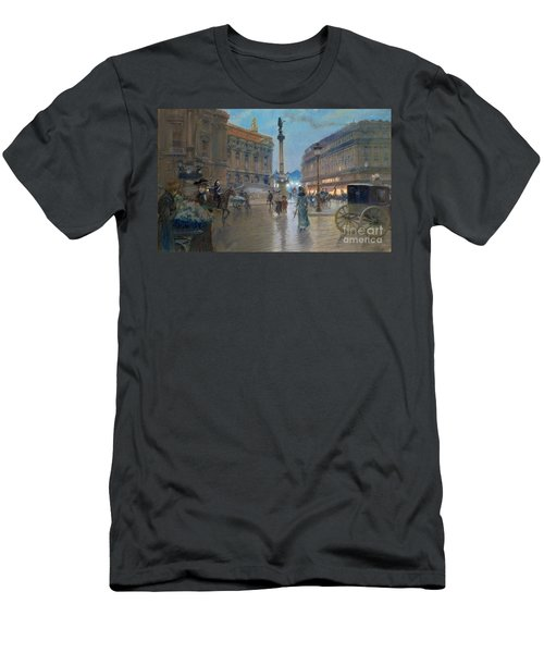 Place De L Opera In Paris Men's T-Shirt (Athletic Fit)