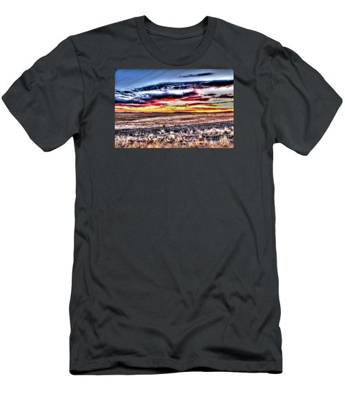 Men's T-Shirt (Athletic Fit) featuring the photograph Plains Sunset by Beauty For God