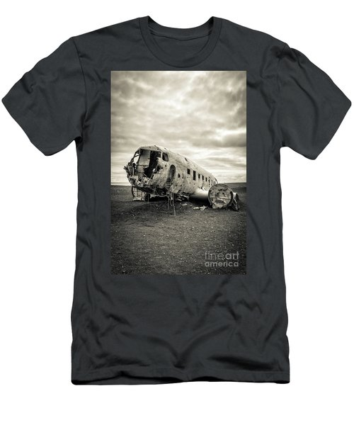 Men's T-Shirt (Athletic Fit) featuring the photograph Plane Crash Iceland by Edward Fielding