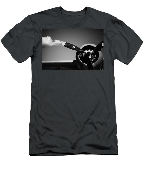 Men's T-Shirt (Slim Fit) featuring the photograph Plane Portrait 4 by Ryan Weddle