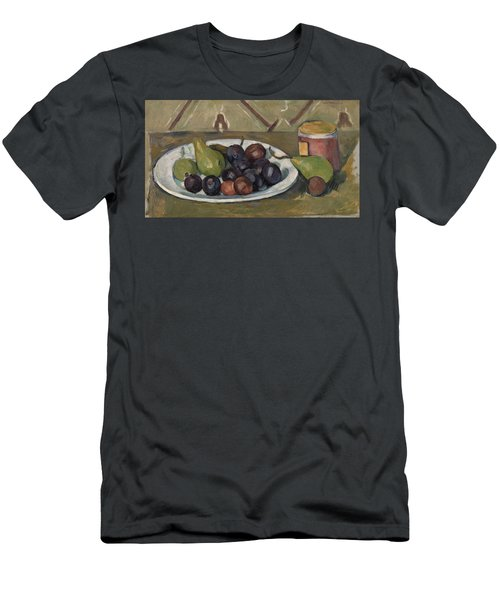 Plate With Fruit And Pot Of Preserves Men's T-Shirt (Athletic Fit)