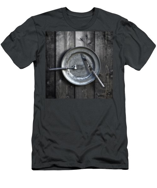 Plate With Silverware Men's T-Shirt (Athletic Fit)