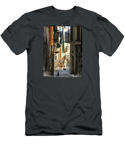 Play Day In Vieste.italy Men's T-Shirt (Slim Fit) by Jennie Breeze