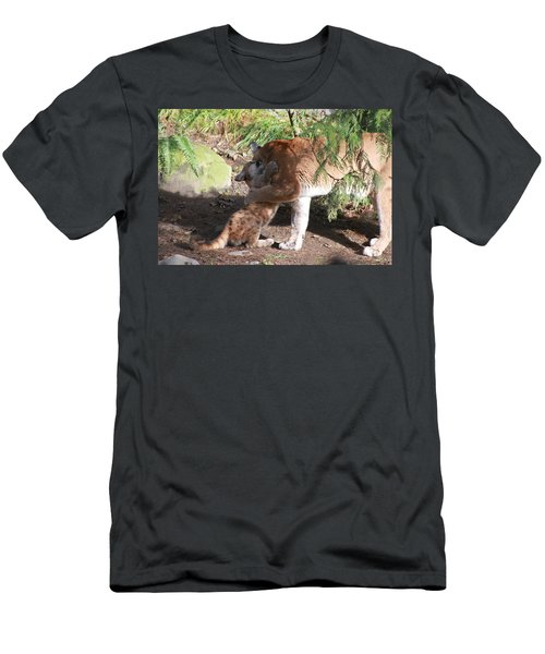 Men's T-Shirt (Slim Fit) featuring the photograph Playful Hugs by Laddie Halupa