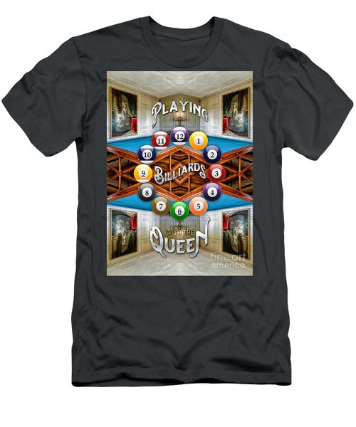 Playing Billiards With The Queen Versailles Palace Paris Men's T-Shirt (Athletic Fit)