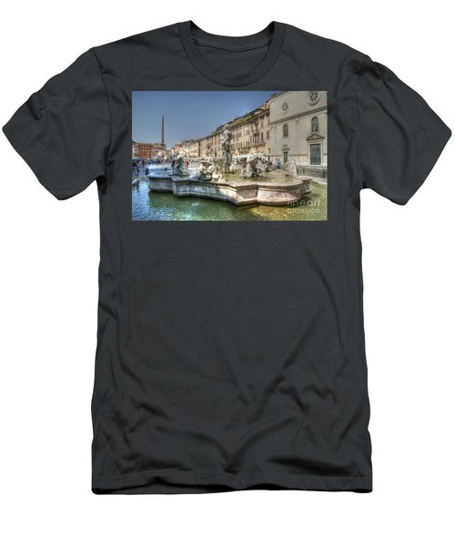 Plaza Navona Rome Men's T-Shirt (Athletic Fit)