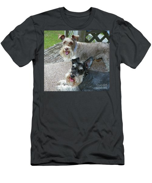 Men's T-Shirt (Slim Fit) featuring the photograph Please Help Us Catch That Squirrel by Carol  Bradley