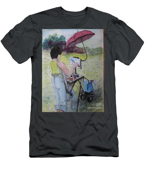 Plein-air Artist Sandra Men's T-Shirt (Slim Fit) by Gretchen Allen