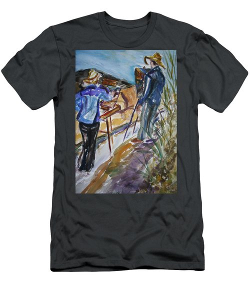 Plein Air Painters - Original Watercolor Men's T-Shirt (Athletic Fit)