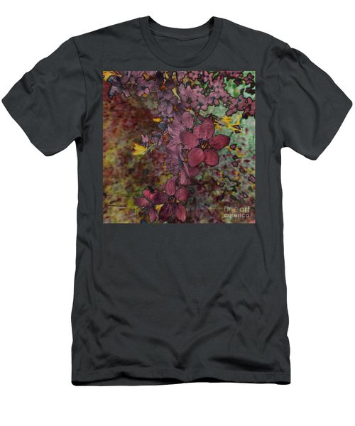 Men's T-Shirt (Slim Fit) featuring the photograph Plum Blossom by LemonArt Photography