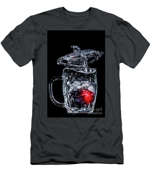Men's T-Shirt (Athletic Fit) featuring the photograph Plum Splash by Ray Shiu