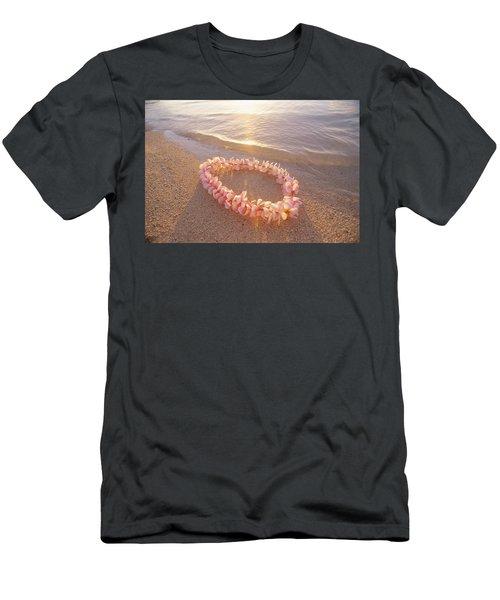 Plumeria Lei Shoreline Men's T-Shirt (Athletic Fit)