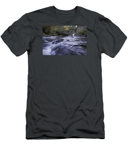 Men's T-Shirt (Athletic Fit) featuring the photograph Plunge Basin Linville Falls by Ken Barrett