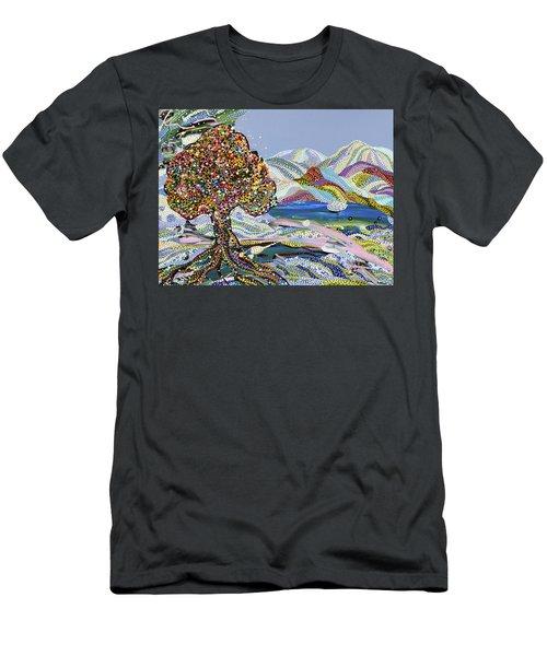 Poet's Lake Men's T-Shirt (Slim Fit) by Erika Pochybova